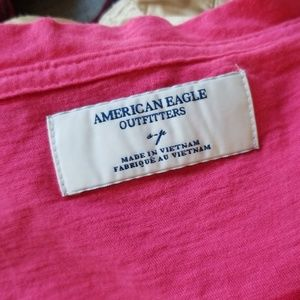 American Eagle Outfitters Tops - 3/$24💟AMERICAN EAGLE Scoopneck Button Tee